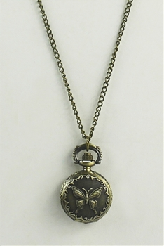 Butterfly Watch Necklace WH0008