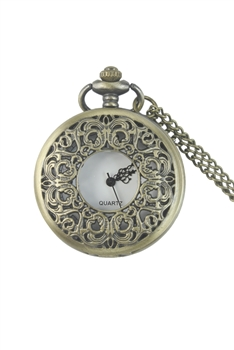 Metal Lace Watch Necklace WH0009