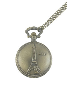 Paris Watch Necklace WH0011 - Copper - L
