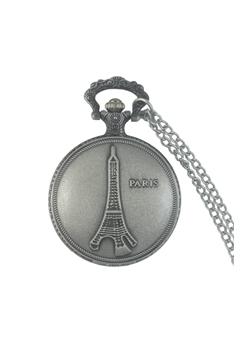 Paris Watch Necklace WH0011 - Silver - L