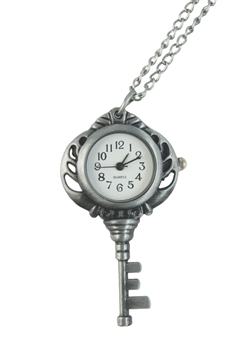 Key Watch Necklace WH0024 - Silver