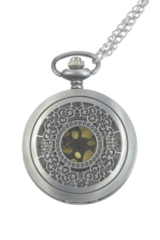 Filigree Watch Necklace WH0028 - Silver - S