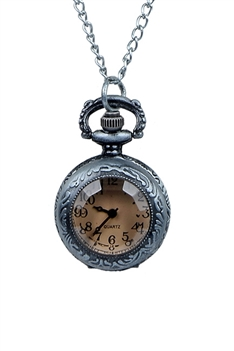 Filigree Watch Necklace WH0029 - Silver