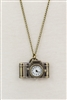 Camera Metal Watch Chain Necklaces WH0034