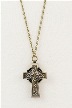 Cross Pocket Watch Necklaces WH0036-COPPER
