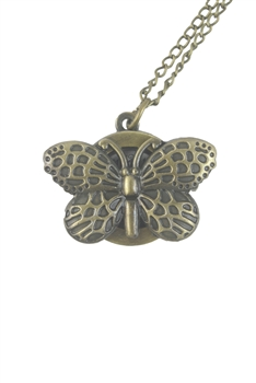 Butterfly Metal Watch Chain Necklaces WH0040