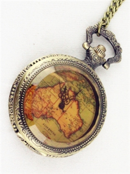 Map Watch Chain Necklaces WH0085