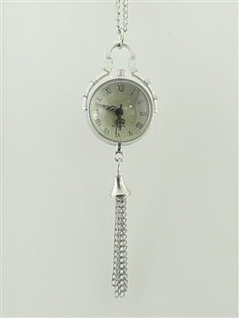 Tassel Watch Necklace WH0109 - Silver