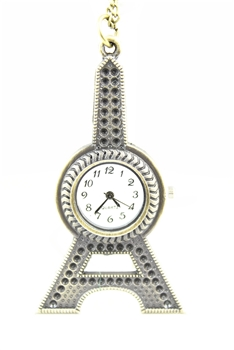 Eiffel Tower Metal Watch Chain Necklaces WH0129