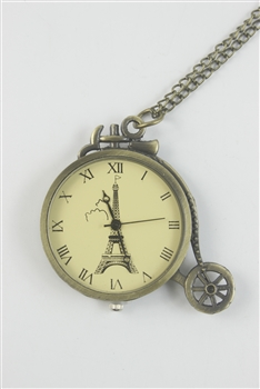 Eiffel Tower Metal Watch Chain Necklaces WH0144