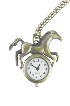 Horse Watch Necklace WH0145