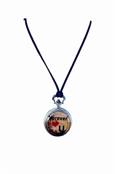 Metal Forever love U Watch Necklace WH0166