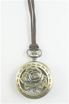 Metal Rose Watch Necklace WH0167