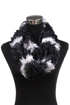 Faux Fur Scarf XX342 - Black
