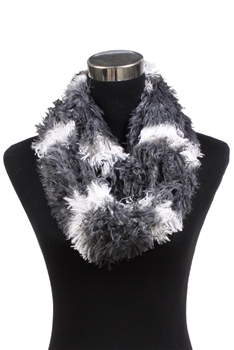 Faux Fur Scarf XX342 - Grey