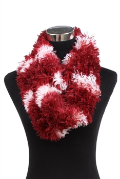 Faux Fur Scarf XX342 - Red