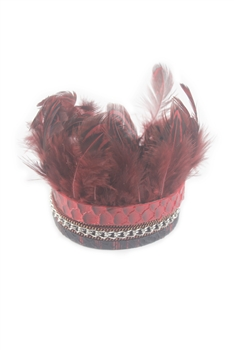 Leather Feather Bracelets B1890 - Red