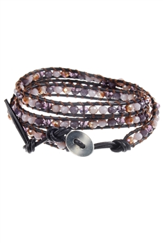 Crystal Beaded Multi Layer Leather Rope Bracelets B1917