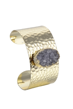 Chic Design Cuff Bangle Plated Metal Stone Bracelets B1924
