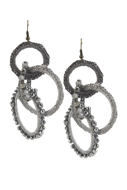 Bohemian Shaking Circle Crystal Earrings E2066
