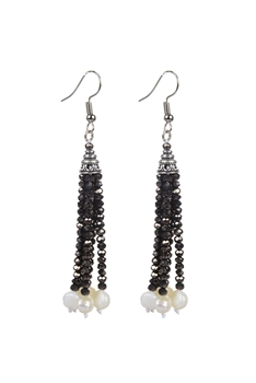Latest Design Cheap Tassel Fashion Seed Bead Crystal Earrings E2092
