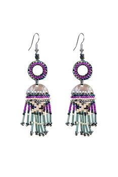Crystal Bead Tassel Earrings E2104