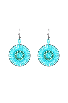 Ethnic Bohemian Women Beads Drop Earrings E2108