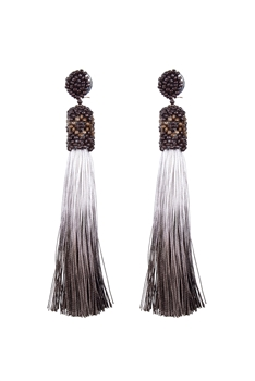 Long Tassel Cotton Earrings E2111
