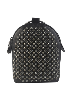 Pu Leatherette Crystal Rivet Handbags HB0573