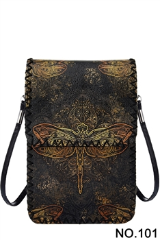 Women Ethnic Printed Mobile Phone  Handbags HB0580 - NO.101