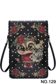 Christmas Style Printed Crossbody HB0580 - NO.129BK