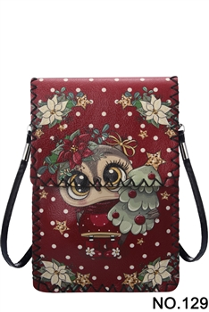 Christmas Style Printed Crossbody HB0580 - NO.129RD