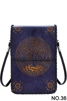 Tree of Life Printed Mobile Phone  Handbags HB0580 - NO.36