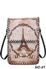 Eiffel Tower Printed Crossbody HB0580 - NO.47