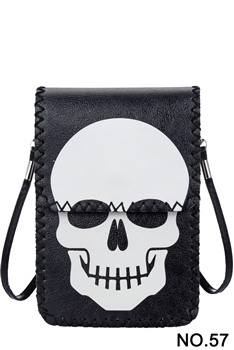 Skull Head Printed Mobile Phone  Handbags HB0580 - NO.57