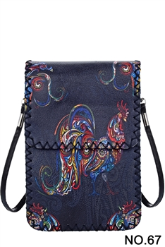 Floral Rooster Printed Crossbody HB0580 - NO.67