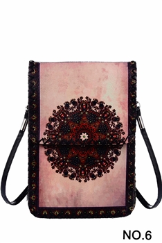 Ethnic Printed Mobile Phone  Handbags HB0580 - NO.6 PK