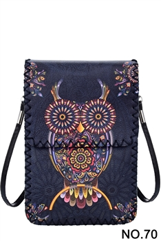Women Ethnic Printed Mobile Phone  Handbags HB0580 - NO.70