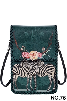 Women Ethnic Printed Mobile Phone  Handbags HB0580 - NO.76