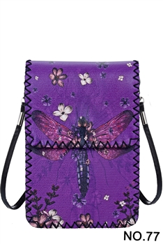 Women Ethnic Printed Mobile Phone  Handbags HB0580 - NO.77