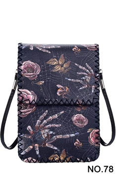 Women Ethnic Printed Mobile Phone  Handbags HB0580 - NO.78