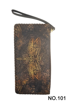 Dragonfly Printed Wristlet HB0581 - NO.101