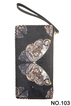Butterfly Printed Wristlet HB0581 - NO.103