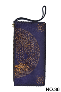 Tree of Life Printed Makeup Clutch Handbags HB0581 - NO.36