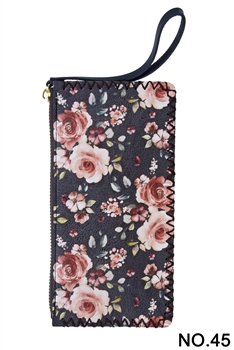 Floral Flower Printed Makeup Clutch Handbags HB0581 - NO.45