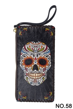 Skull Candy  Head Printed Makeup Clutch Handbags HB0581 - NO.58