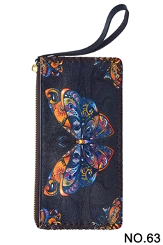 Butterfly Printed Wristlet HB0581 - NO.63