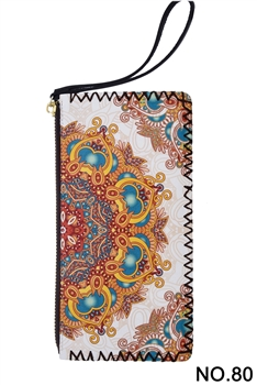 Ethnic Printed Wristlet HB0581 - NO.80WH
