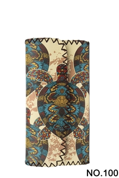 Women Ethnic Pattern Leatherette Wallet HB0582 - NO.100
