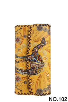 Women Ethnic Pattern Leatherette Wallet HB0582 - NO.102